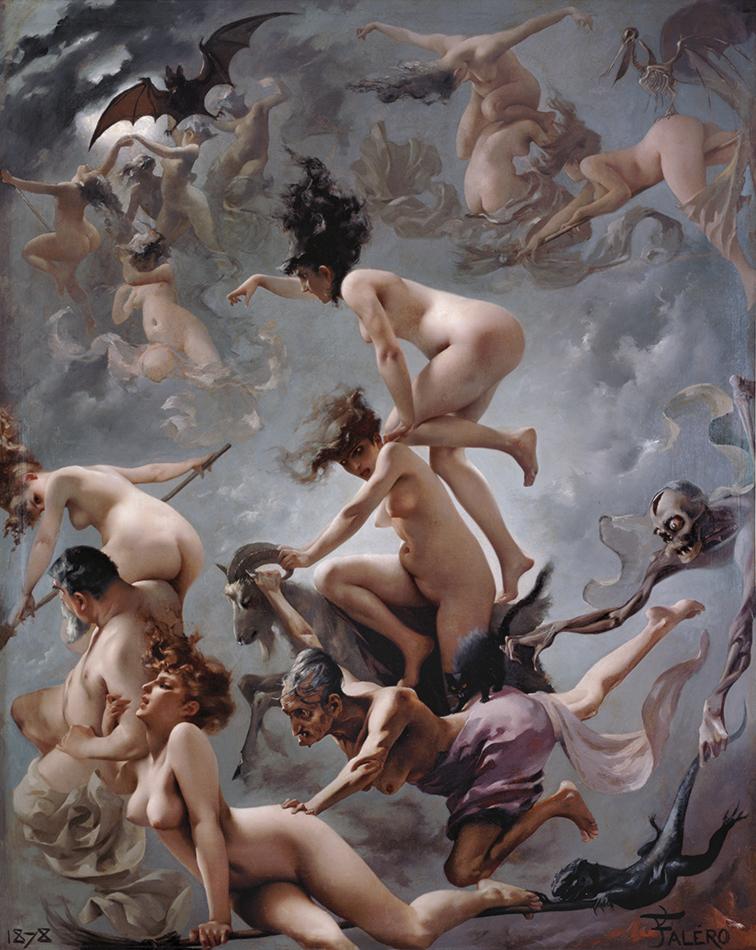 Witches going to their Sabbath, by Luis Ricardo Falero