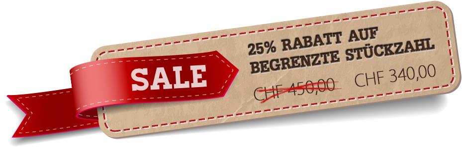 Sale Tag 25% Rabatt