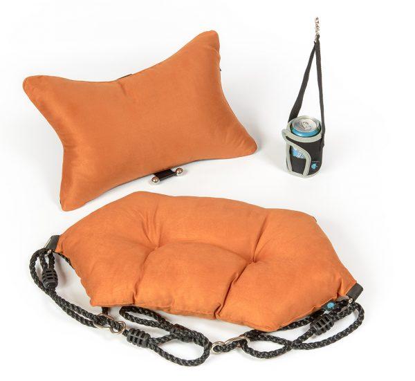 """Komfort Relax-Set für Liebesschaukel """"Private Euphoria"""" Orange-Braun"""